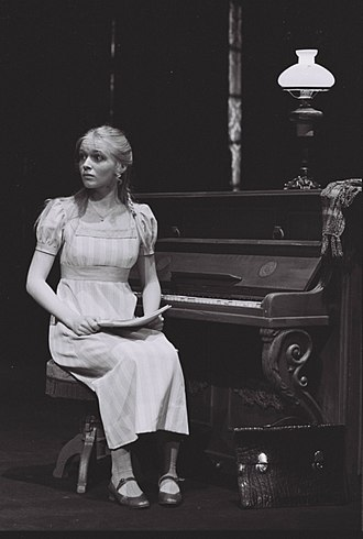 John Gabriel Borkman - Norwegian actress Linn Stokke (born 1961) as Frida Foldal at the Nationaltheatret  of Oslo in 1979