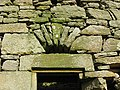 Lintel and stonework at Mervinslaw pele house - geograph.org.uk - 743342.jpg