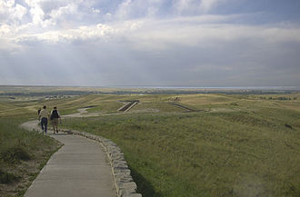 Sitting Bull - The area in which the Battle of the Little Bighorn took place.
