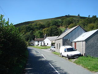 Llanwrin village in the county of Powys, Wales