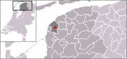 Location in Franekeradeel in Friesland in the Netherlands