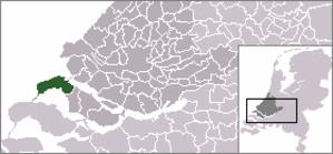 Goedereede - Image: Locatie Goedereede