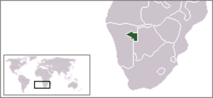 Hereroland - Hereroland (green) in South-West Africa (light grey)