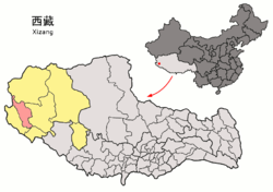 Location of Gar County within Tibet Autonomous Region
