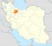 موقعیت استان قزوین در ایران.