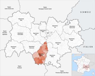 Lage des Ardèche