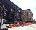 London-Woolwich, Royal Arsenal, Cross Rail site from Major Draper St.jpg