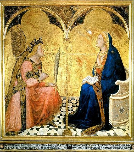 Ambrogio Lorenzetti,  Annunciazione, tempera su legno, 127 cm x 120 cm