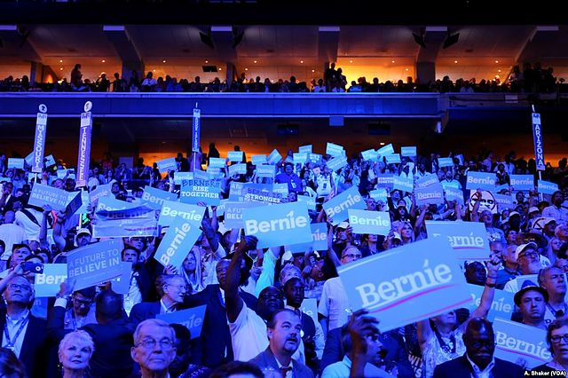 From commons.wikimedia.org/wiki/File:Love_for_Sanders_at_2016_DNC.jpg: Love for Sanders at 2016 DNC