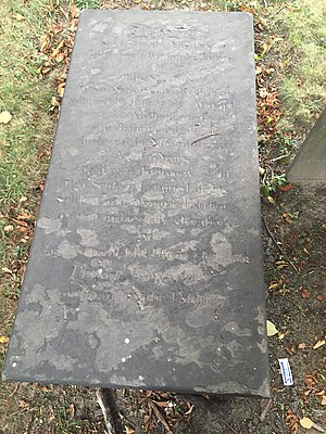 Royal Nova Scotia Regiment - Image: Lt. Benjamin James, Old Burying Ground, Halifax, Nova Scotia