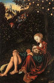 Lucas Cranach - Samson and Delilah