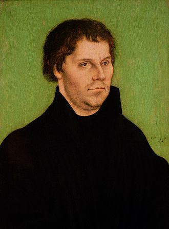 Es woll uns Gott genädig sein - Portrait of Luther in 1525 by Lucas Cranach