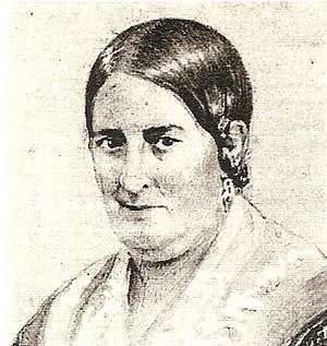 First Ladies and Gentlemen of Argentina - Portrait engraving of Lucia Petrona