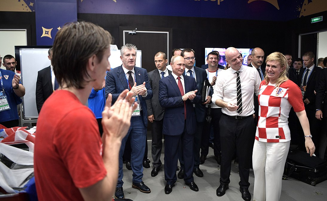 Luka Modrić meets Kolinda Grabar-Kitarović after the 2018 FIFA World Cup Final (2).jpg