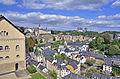 Luxembourg - Blick auf den Kirchberg.JPG