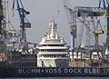 """Luxusyacht """"Eclipse"""" in der Werft Blohm & Vosse (10058927905).jpg"""