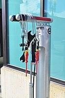 Lynden, Washington - public bicycle repair kit and pump 01.jpg