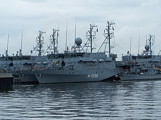 Minesweeper - Siegburg, a modern Ensdorf-class minesweeper of the German Navy