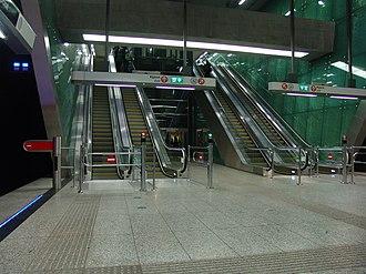 Újbuda–központ (Budapest Metro) - Image: M4 Újbuda központ 1