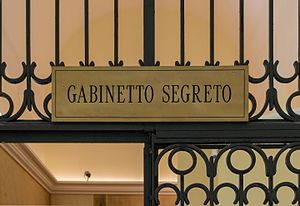 Secret Museum, Naples - Entrance to the Gabinetto Segreto