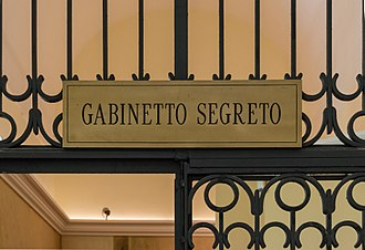 Secret Museum, Naples - Entrance to the Gabinetto Segreto