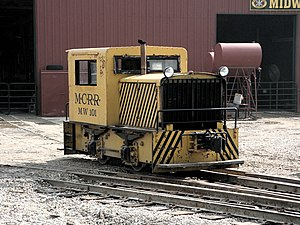 Midwest Central Railroad - A Vulcan gasoline switcher.