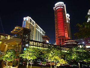 MC 澳門 Macau 路氹城 Cotai Strip view Sands Cotai Central Conrad Hotel Macao n footbridge facade Nov 2016 DSC.jpg