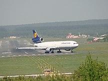 Aeroporto di Krasnojarsk-Emel'janovo--MD-11 Lufthansa Cargo at Yemelyanovo airport (Krasnoyarsk)