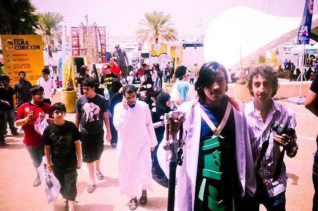 Arab Teens enjoying themselves at MEFCC