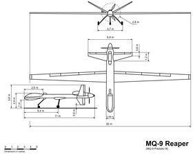 vue en plan de l'avion
