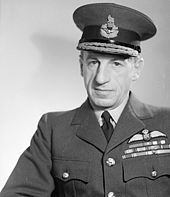 Head and shoulders of a man in RAF uniform