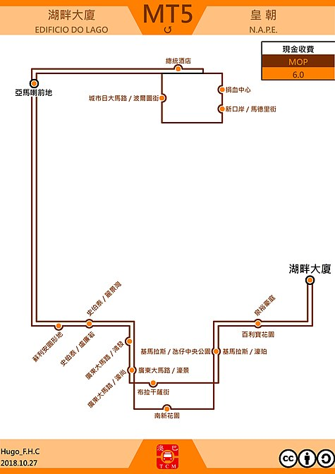 澳門巴士mt5路線 維基百科,自由的百科全書
