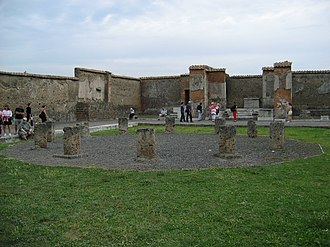 Macellum of Pompeii - The remains of the central structure
