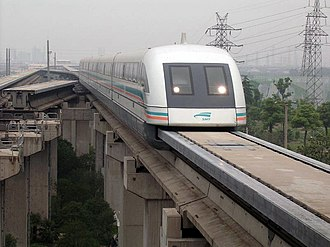 Magnetic levitation - The Transrapid system uses servomechanisms to pull the train up from underneath the track and maintains a constant gap while travelling at high speed
