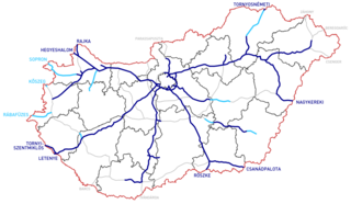 Highways in Hungary Wikimedia list article