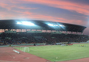 Nakhon Ratchasima F.C. - A full main stand: Nakhon Ratchasima v Roiet United, 17/12/2011