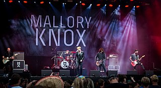 Mallory Knox British rock band from Cambridge, UK in 2009.