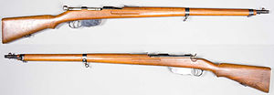 Mannlicher M1895 - Mannlicher M1895 Rifle. From the collections of the Swedish Army Museum.