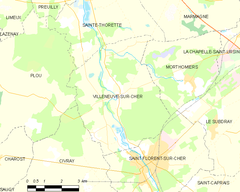 Map commune FR insee code 18285.png