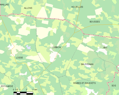 Map commune FR insee code 40161.png