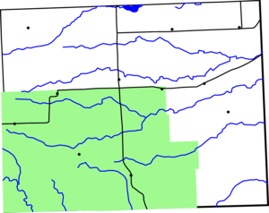 Map of Baca County, Colorado