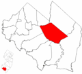Map of Cumberland County highlighting Millville.png