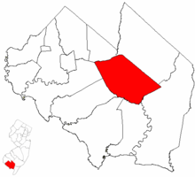Millville highlighted in Cumberland County. Inset map: Cumberland County highlighted in the State of New Jersey.