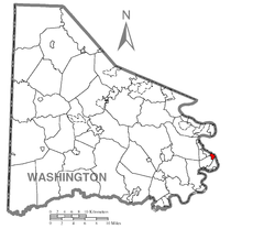 Map of Dunlevy, Washington County, Pennsylvania Highlighted.png