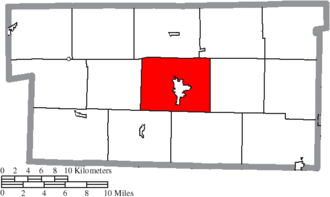 Hardy Township, Holmes County, Ohio - Image: Map of Holmes County Ohio Highlighting Hardy Township