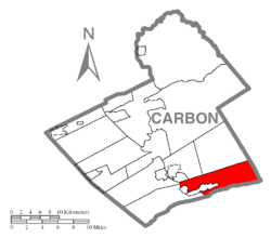Location of Lower Towamensing Township in Carbon County