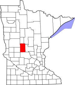 Map of Minnesota highlighting Todd County.svg