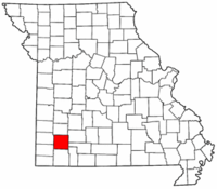 Map of Missouri highlighting Lawrence County.png