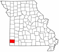 Map of Missouri highlighting Newton County.png