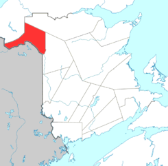 Map of New Brunswick highlighting Madawaska County.png